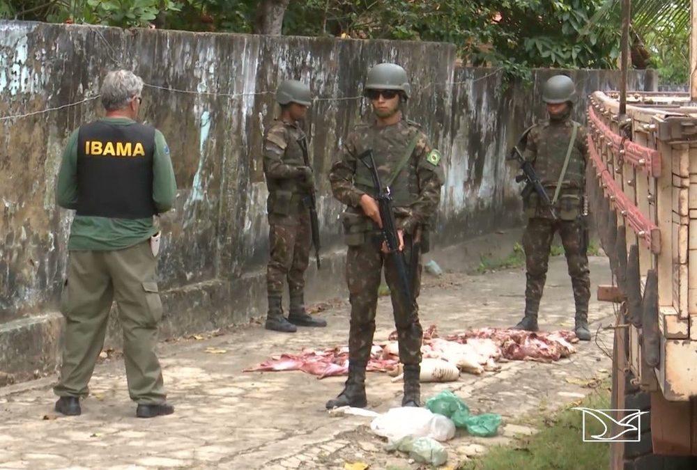 Fiscais do Ibama e Exército realizam operação de combate a crimes ambientais no MA