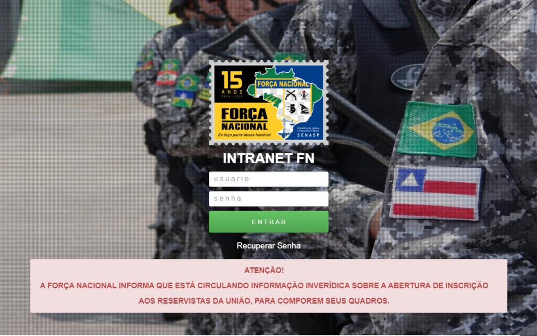 Fake: Força Nacional não está selecionando militares da reserva remunerada