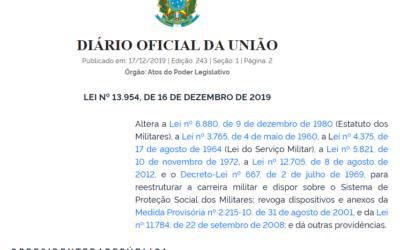 Aspectos da Lei nº 13.954/19 – Sistema de Proteção Social e Reestruturação da carreira militar