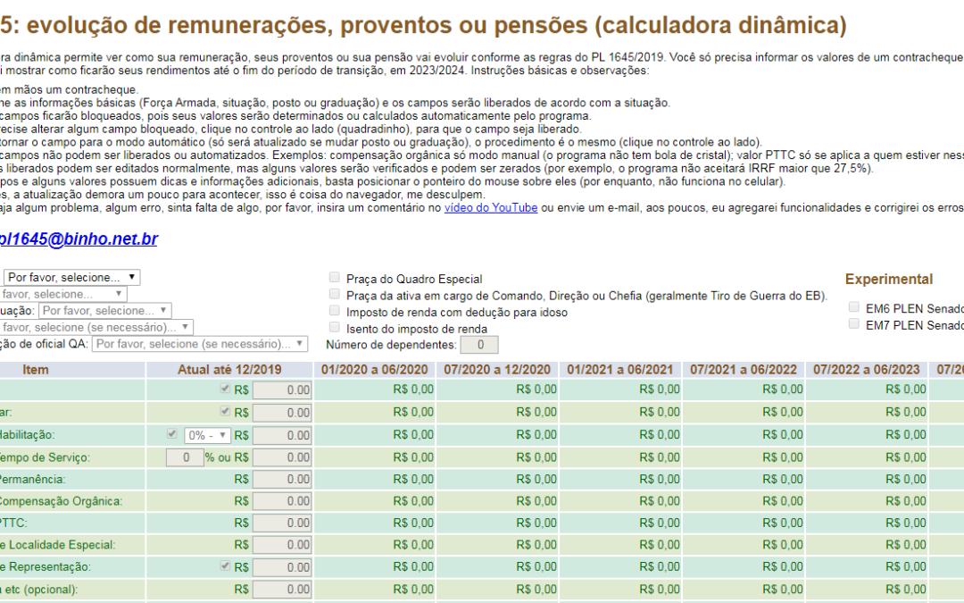 PL 1645/19: calcule sua remuneração!