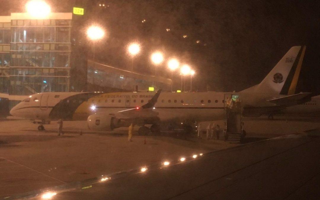 Coronavírus: aviões com repatriados da China pousam em Anápolis