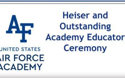 Oficial da FAB é premiado na Academia da Força Aérea dos Estados Unidos