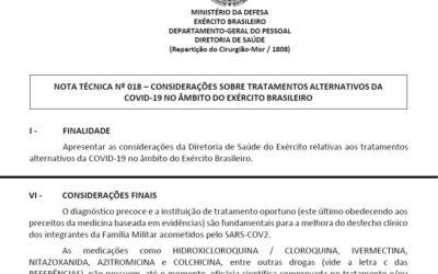 Exército exalta vacina e reprova cloroquinas e outras 'inas' de Bolsonaro
