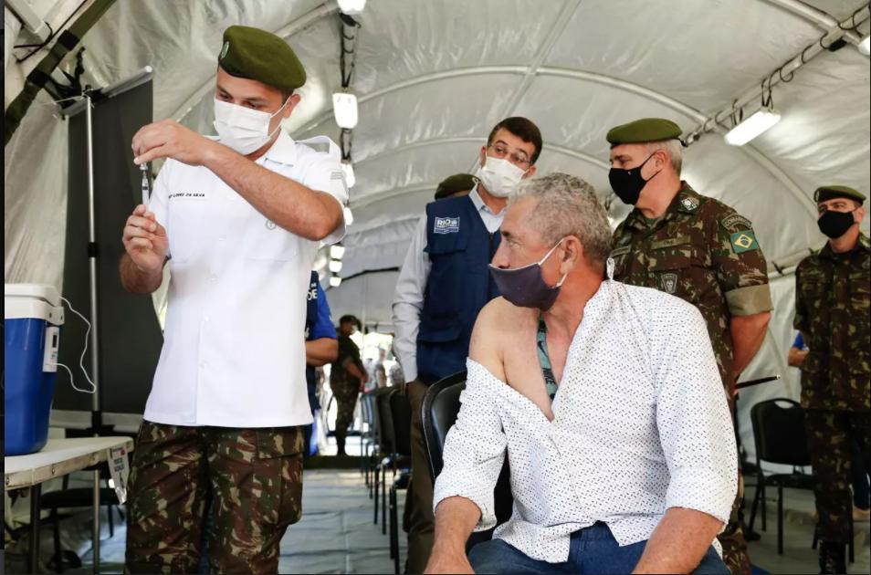 Exército monta estrutura no Rio para vacinar cerca de 25 mil pessoas contra covid