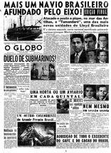 79 anos: submarino alemão torpedeia navio brasileiro e precipita entrada do Brasil na 2ª Guerra