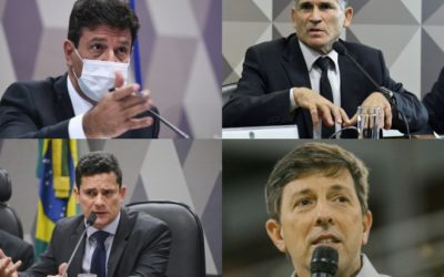 A reunião semanal entre Mandetta, Moro, Amoedo e Santos Cruz
